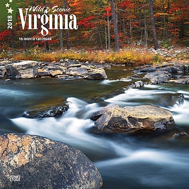 Virginia, Wild & Scenic 2018 12 x 12 Inch Monthly Square Wall Calendar