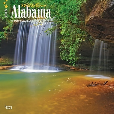 Alabama, Wild & Scenic 2018 12 x 12 Inch Monthly Square Wall Calendar