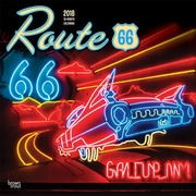 Route 66 2018 12 x 12 Inch Monthly Square Wall Calendar
