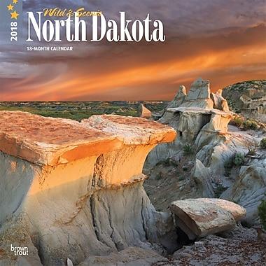 North Dakota, Wild & Scenic 2018 12 x 12 Inch Monthly Square Wall Calendar