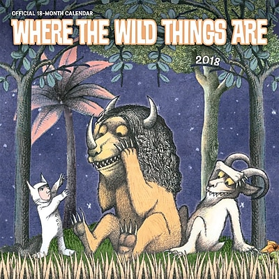 Where the Wild Things Are by Maurice Sendak 2018 12 x 12 Inch Monthly Square Wall Calendar