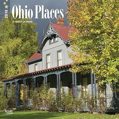 Ohio Places 2018 12 x 12 Inch Monthly Square Wall Calendar