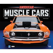 American Muscle Cars 2018 12 x 14 Inch Monthly Deluxe Wall Calendar with Foil Stamped Cover