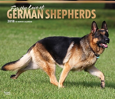 For the Love of German Shepherds 2018 Deluxe Wall Calendar with Foil Stamped Cover