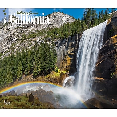 California, Wild & Scenic 2018 12 x 14 Inch Monthly Deluxe Wall Calendar