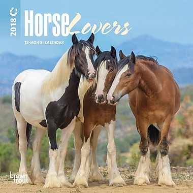 Horse Lovers 2018 Mini 7 x 7 Inch Wall Calendar with Foil Stamped Cover