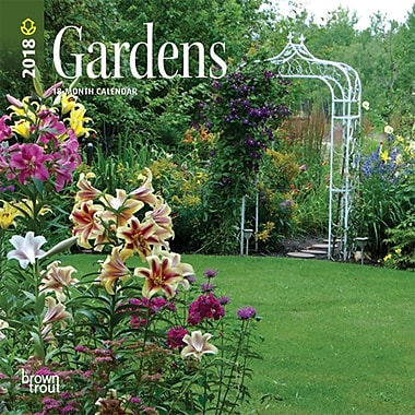 Gardens 2018 7 x 7 Inch Monthly Mini Wall Calendar