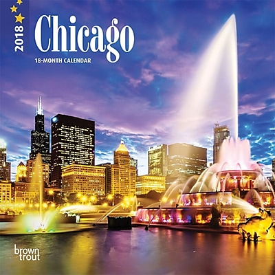 Chicago 2018 7 x 7 Inch Monthly Mini Wall Calendar