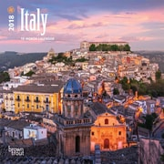 Italy 2018 Mini 7 x 7 Inch Wall Calendar