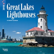Lighthouses, Great Lakes 2018 7 x 7 Inch Monthly Mini Wall Calendar