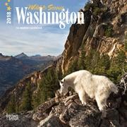 Washington, Wild & Scenic 2018 7 x 7 Inch Monthly Mini Wall Calendar