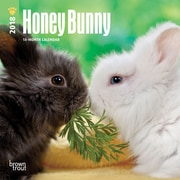 Honey Bunny 2018 Mini 7 x 7 Inch Wall Calendar