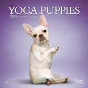 Yoga Puppies 2018 Mini 7 x 7 Inch Wall Calendar