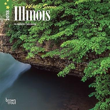 Illinois, Wild & Scenic 2018 7 x 7 Inch Monthly Mini Wall Calendar