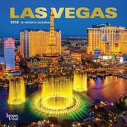 Las Vegas 2018 7 x 7 Inch Monthly Mini Wall Calendar with Foil Stamped Cover