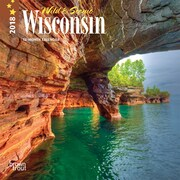 Wisconsin, Wild & Scenic 2018 7 x 7 Inch Monthly Mini Wall Calendar