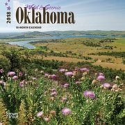 Oklahoma, Wild & Scenic 2018 7 x 7 Inch Monthly Mini Wall Calendar