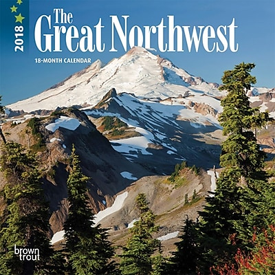 Great Northwest, The 2018 7 x 7 Inch Monthly Mini Wall Calendar