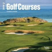Golf Courses 2018 7 x 7 Inch Monthly Mini Wall Calendar