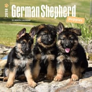 German Shepherd Puppies 2018 Mini 7 x 7 Inch Wall Calendar