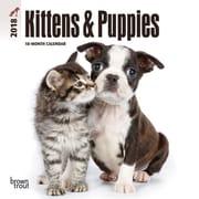 Kittens & Puppies 2018 Mini 7 x 7 Inch Wall Calendar