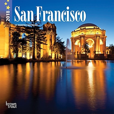 San Francisco 2018 7 x 7 Inch Monthly Mini Wall Calendar