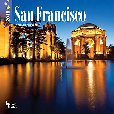 San Francisco 2018 7 x 7 Inch Monthly Mini Wall Calendar