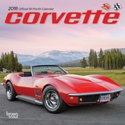 Corvette 2018 7 x 7 Inch Monthly Mini Wall Calendar