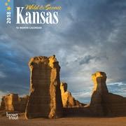 Kansas, Wild & Scenic 2018 7 x 7 Inch Monthly Mini Wall Calendar