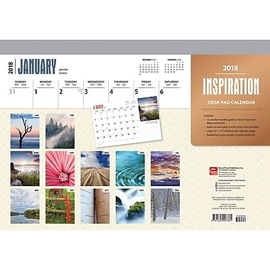 Inspiration 2018 Desk Pad Calendar