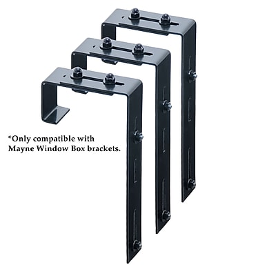 Mayne Deck Rail Brackets Black (3833)