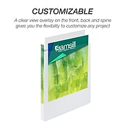 """Earth's Choice Biobased Standard 1/2"""" 3-Ring View Binder, White (18917)"""