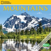 National Geographic Mountains 2018 12 x 12 Inch Square Wall Calendar by Zebra