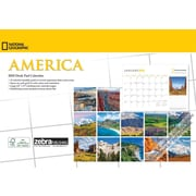 National Geographic America 2018 Desk Pad Calendar by Zebra