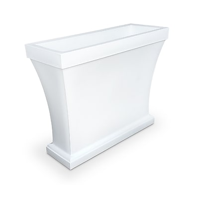 Mayne Bordeaux Trough Planter White (8890-W)