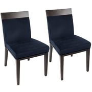 LumiSource Denver Contemporary Dining Chair in Navy Blue Velvet (CH-DENV NB2)