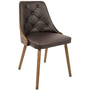 LumiSource Gianna Contemporary Dining Chair in Walnut and Brown (CH-JY-GNN WL+BN)