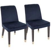 LumiSource Zora Contemporary Dining Chair in Navy Blue Velvet (DC-ZORA NB2)