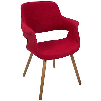 LumiSource Vintage Flair Mid-Century Modern Chair in Red (CHR-JY-VFL R)