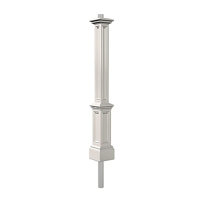Mayne Signature Lamp Post with Steel Mount, White (5835-W)
