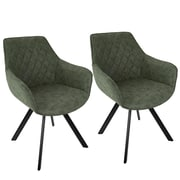 LumiSource Outlaw Industrial Dining / Accent Chair in Green PU (CH-OUTLW BK+GN2)