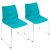 LumiSource Arrow Contemporary Dining Chair in Turqouise (CH-ARROW TQ2)