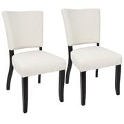 LumiSource Vida Contemporary Dining Chair with Nailhead Trim in Cream (DC-VDA E+CR2)