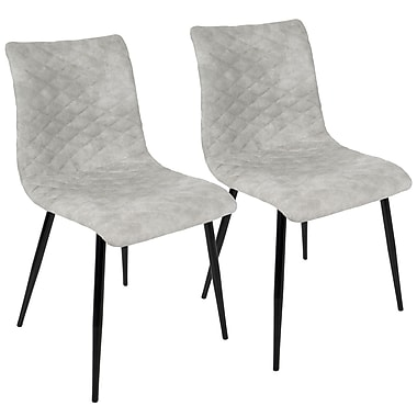 LumiSource Eastwood Industrial Dining Chair in Grey PU (CH-ESTWD BK+GY2)