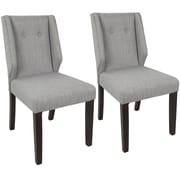 LumiSource Rosario Contemporary Dining Chair in Walnut and Light Grey (DC-RSRO WL+LGY2)
