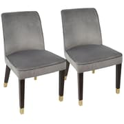 LumiSource Zora Contemporary Dining Chair in Silver Velvet (DC-ZORA SV2)