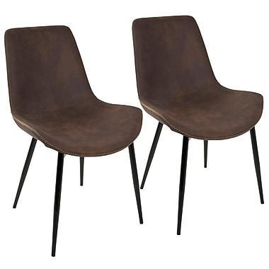 LumiSource Duke Industrial Dining Chair in Black and Espresso (DC-DUKZ BK+E2)