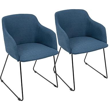 LumiSource Daniella Contemporary Chair in Blue (CH-DNLA BU2)