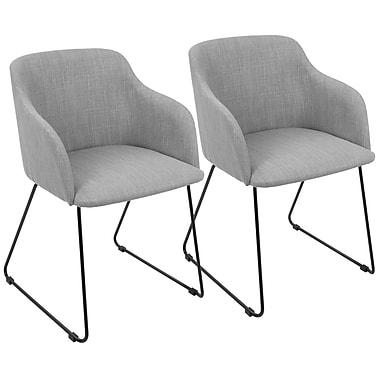 LumiSource Daniella Contemporary Chair in Light Grey (CH-DNLA LGY2)