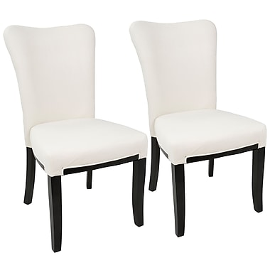 LumiSource Olivia Espresso and Cream Dining Chair (DC-OLVA E+CR2)